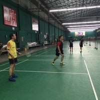 Photo taken at CC Badminton Court by zermukgy on 3/14/2016