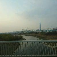 Photo taken at 광평교 by Do Hyun K. on 3/27/2017