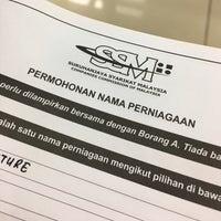 Photo taken at Suruhanjaya Syarikat Malaysia by Nur Izzati I. on 3/21/2017