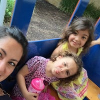 Photo taken at Hound Dog Express - Kids Train Ride by Lucy R. on 4/24/2015
