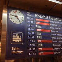 Photo taken at Zurich Airport Railway Station by yos1996 よ. on 12/9/2012