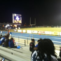 Photo taken at LHS Football Stadium by Dalton T. on 9/29/2012