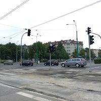 Photo taken at Przystanek AWF (tram) by Asia S. on 5/26/2016