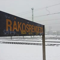Photo taken at Rákosrendező vasútállomás by Zsolt C. on 2/22/2013