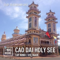 Photo taken at Cao Dai Holy See by Mayu S. on 2/25/2013