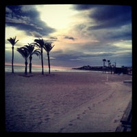 Photo taken at Playa de San Juan by Gabie V. on 1/18/2013