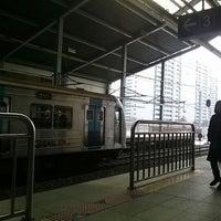 Photo taken at Sanbon Stn. by Sungkuk J. on 1/20/2013