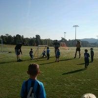 Photo taken at Heritage High School Football Field by Melissa B. on 9/15/2012