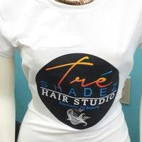 Photo taken at Tre' Shadez Hair Salon by Victoria M. on 8/9/2014