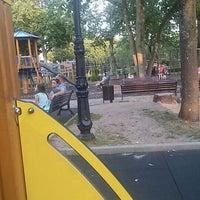 Photo taken at Ziemeļblāzmas parka bērnu laukumiņš by Evelina D. on 8/5/2015