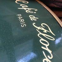 Photo taken at Café de Flore by Ophelie L. on 10/27/2012