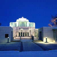 Photo taken at Cardston Alberta Temple by Peter H. on 12/24/2012