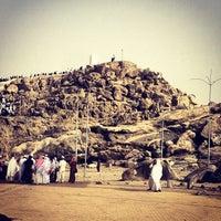 Photo taken at Arafah Mountain by Safwan J. on 6/5/2013