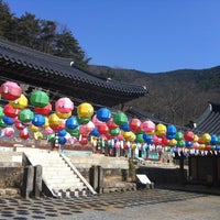 Photo taken at 청곡사 (靑谷寺) by Yukyeong K. on 2/11/2013
