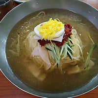 Photo taken at 부산 가야 밀면 by Kuni on 8/16/2015