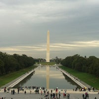 Photo taken at Lincoln Memorial Reflecting Pool by Simone P. on 10/8/2012