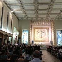 Photo taken at Santuário Santo Antônio do Pão dos Pobres by Marco Adiles M. on 11/22/2012