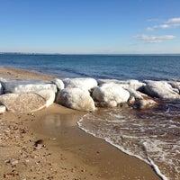 Photo taken at Popponesset Beach by Jennifer S. on 1/4/2014