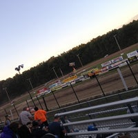 Photo taken at Albany-Saratoga Speedway by Amanda C. on 7/27/2013
