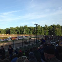 Photo taken at Albany-Saratoga Speedway by Amanda C. on 6/20/2014