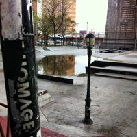 Photo taken at Coleman Playground Skatepark by HOMAGE B. on 10/31/2012
