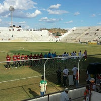 Photo taken at Estádio Cornélio de Barros (Salgueirão) by Eduardo F. on 1/15/2017