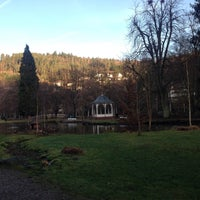 Photo taken at Kurpark Bad Liebenzell by Esra T. on 12/25/2015