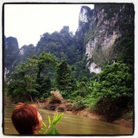 Photo taken at Khao Sok National Park by chiharu k. on 10/20/2012