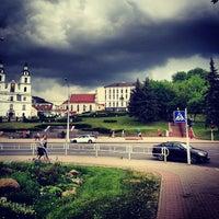 Снимок сделан в Станция метро «Немига» пользователем Илья f. 5/20/2013