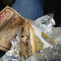 Photo taken at Which Wich? Superior Sandwiches by Rachel T. on 10/1/2012