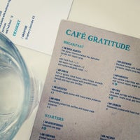 Photo taken at Café Gratitude by The F. on 6/18/2013