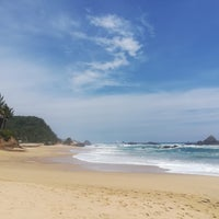 Photo taken at Playa Mazunte by Thierry V. on 9/15/2018