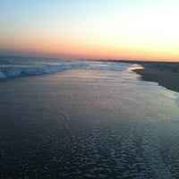 Photo taken at Ponquogue Beach by Joshua H. on 4/27/2013