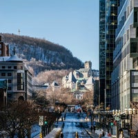Photo taken at Avenue McGill College / McGill College Avenue by Montreal G. on 1/21/2016