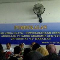 """Photo taken at Universitas Bosowa """"45"""" Makassar by amma n. on 8/20/2013"""