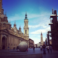 Photo taken at Plaza del Pilar by Mafalda B. on 6/10/2013