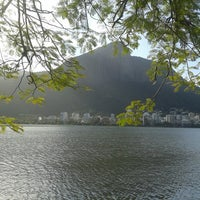 Photo taken at Lagoa Rodrigo de Freitas by Romy A. on 7/28/2013