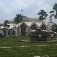 Photo taken at Masjid Agung At-Tin by herlangga o. on 2/8/2013