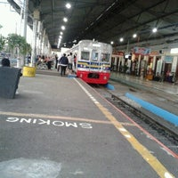 Photo taken at Stasiun Bogor by ms.fitriade on 12/19/2012