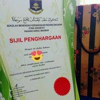 Photo taken at Sekolah Menengah Kebangsaan Padang Saujana by Beqa J. on 2/3/2017