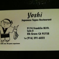 Photo taken at Yoshi Japanese Restaurant by Jerry H. on 9/16/2012
