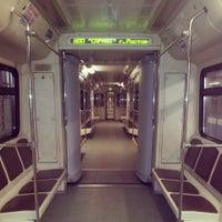 Photo taken at metro Fili by Marina P. on 3/25/2013