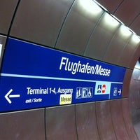 Photo taken at S Flughafen/Messe by Audrey T. on 11/24/2012