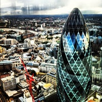 Photo taken at Duck & Waffle by Sandra A. on 10/13/2012