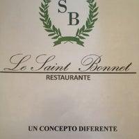 Photo taken at Le Saint Bonnet by Diego M. on 9/22/2012