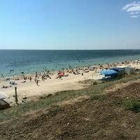 Photo taken at пляж города Южный(Одесса) by Alexander Z. on 8/24/2015