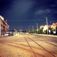 Photo taken at Hradčanská (tram) by Vojtěch M. on 7/3/2013