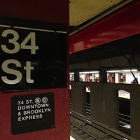 Photo taken at MTA Subway - 34th St/Penn Station (A/C/E) by Fauzee N. on 2/3/2013