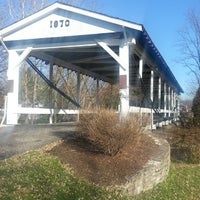 Photo taken at Germantown Covered Bridge by Samuel C. on 11/30/2013