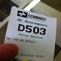 Photo taken at Correios by Daniel D. on 10/15/2013